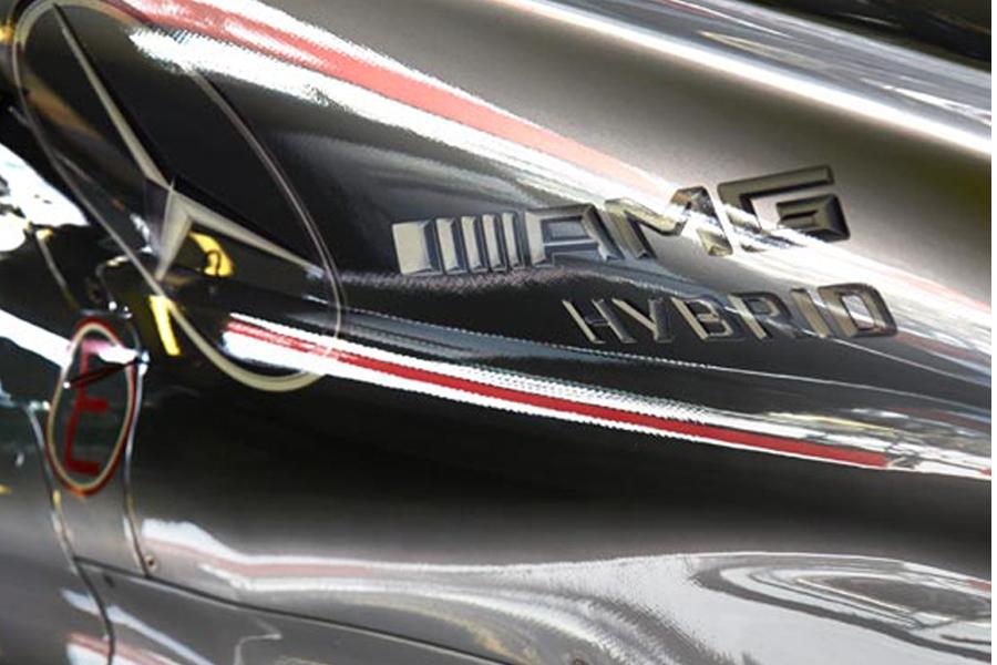 Nico Rosberg Test gamma Hybrid AMG